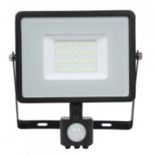 30W Slim Pro Motion Sensor LED Floodlight Daylight White (Black Case)