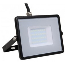 30W Slim Pro Samsung LED Floodlight Warm White (Black Case)