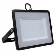 100W Slim Pro LED Security Floodlight Cool White (Black Case)