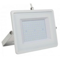 100W Slim Pro LED Security Floodlight Cool White (White Case)