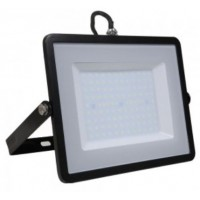 100W Slim Pro LED Security Floodlight Warm White (Black Case)