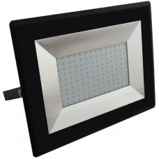 100W Slim LED Security Floodlight Warm White (Black Case)