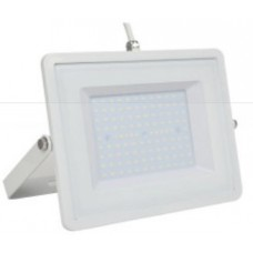 100W Slim LED Security Floodlight Warm White (White Case)