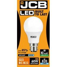 10W (60W) LED GLS Bayonet Light Bulb - Daylight White (6500K)