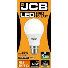 10W (60W) LED GLS Bayonet Light Bulb - Warm White (3000K)