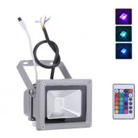 10W LED Floodlight  - IP65 (RGB Colour Changing With Remote)