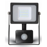 10W Premium LED Motion Sensor Floodlight - Daylight 6400K (Black Case)