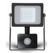 10W Premium LED Motion Sensor Floodlight Cool White 4000K (Black Case)