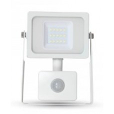 10W Premium LED Motion Sensor Floodlight Cool White 4000K (White Case)
