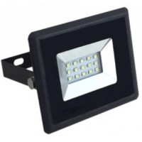 10W Slim LED Security Floodlight Cool White (Black Case)