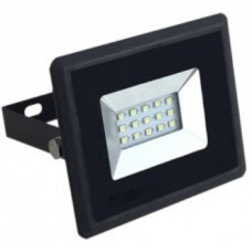 10W Slim LED Security Floodlight - Warm White (Black Case)