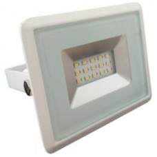 10W Slim LED Security Floodlight Warm White (White Case)