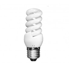 11w Edison Screw Extra Mini Low Energy Spiral Light Bulb (Warm White)