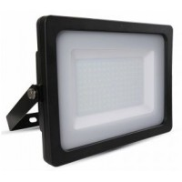 150W Slimline Premium LED Security Floodlight Warm White (Black Case)