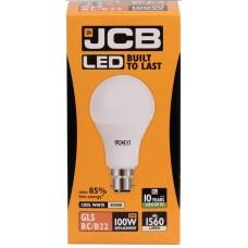 15W (100W) LED GLS Bayonet Light Bulb Cool White (4000K)