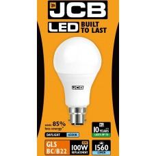 15W (100W) LED GLS Bayonet Light Bulb - Daylight White (6500K)