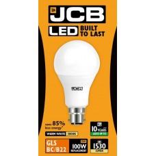 15W (100W) LED GLS Bayonet Light Bulb - Warm Whiite (3000K)
