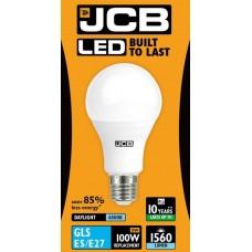 15W (100W) LED GLS Edison Screw Light Bulb Daylight Whiite (6500K)