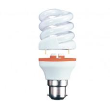 15w (75w) 2 Part Bayonet Mini Spiral Low Energy Light Bulb - Warm White