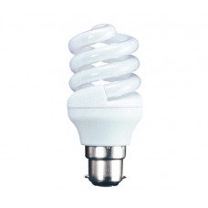 18w (100w) Bayonet Energy Spiral Light Bulb - Warm White (Quick Start)