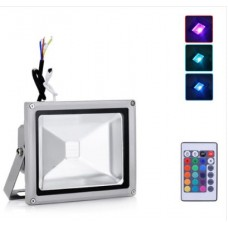 20W LED Floodlight  - IP65 (RGB Colour Changing With Remote)