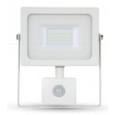 20W Slim Motion Sensor LED Floodlight Natural Cool White 4000K (White Case)