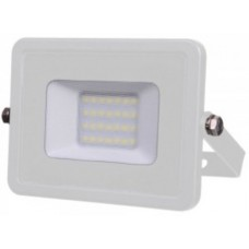 20W Slimline Premium High Lumen LED Floodlight Warm White (White Case)