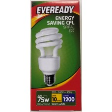 20w (100W) Edison Screw Low Energy Light Bulb - Warm White