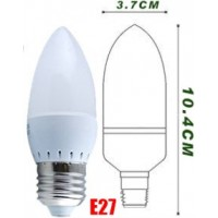 2.5w (25w) LED Candle - Edison Screw in Daylight