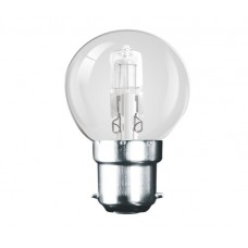 28W (40W Equiv) Bayonet Eco Halogen Golf Ball Light Bulb
