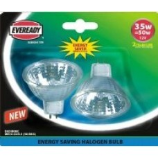 2 Pack - Eco Halogen 35W (50W Equiv) Energy Saver MR16 Spotlights