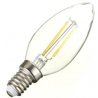 2W (25W) LED Filament Candle - Small Edison Screw in Warm White