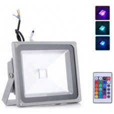 30W LED Floodlight  - IP65 (RGB Colour Changing With Remote)