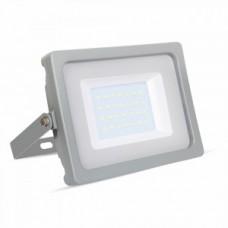30W Slimline Premium High Lumen LED Floodlight Daylight White (Grey Case)