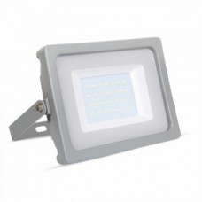 30W Slimline Premium High Lumen LED Floodlight Warm White (Grey Case)
