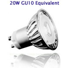3W (20W) High Power LED GU10 Low Energy Saving Spotlight (Cool White)