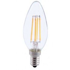 4W (40W) LED Filament Candle Small Edison Screw Light Bulb in Daylight