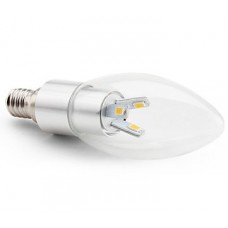 4w (30w) LED Candle - Small Edison Screw in Daylight