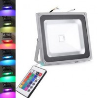 50W LED Floodlight  - IP65 (RGB Colour Changing With Remote)