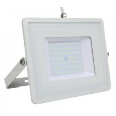 50W Slimline PRO LED Security Floodlight Warm White (White Case)