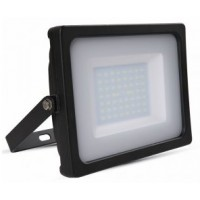 50W Slimline Premium LED Floodlight Natural Cool White (Black Case)