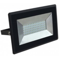 50W Slimline Premium SMD LED Floodlight Daylight White (Black Case)