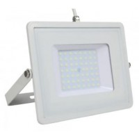 50W Slimline Pro LED Security Floodlight Daylight White (White Case)