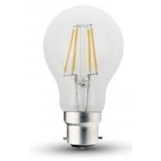 5W (50W) LED Filament GLS Bayonet Light Bulb in Warm White
