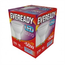 5W = 50W LED GU10 Spotlight Daylight White By Eveready