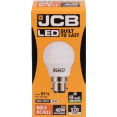 6W (40 Watt) LED Golf Ball Bayonet Light Bulb in Cool White (4000K)