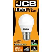 6W (40 Watt) LED Golf Ball Bayonet Light Bulb in Warm White