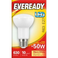7.8W (50 Watt) LED R63 Edison Screw Reflector Spotlight (Warm White)