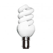 7w (40w) Small Bayonet Extra Mini Low Energy Spiral (Warm White)