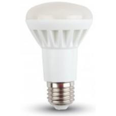 8W (60W) LED R63 Edison Screw / ES / E27 Reflector Cool White